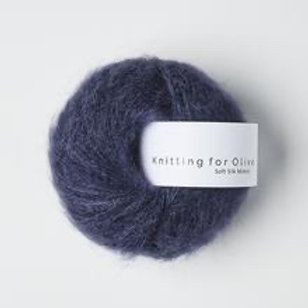 Dark Blue / Mørkeblå- Soft Silk Mohair
