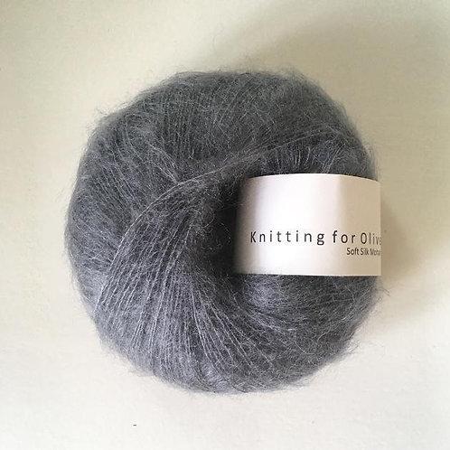 Dusty Petroleum Blue- Soft Silk Mohair