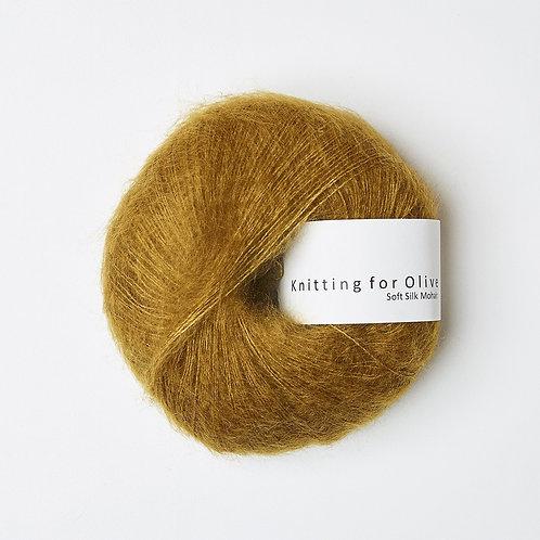 Mörk Senap- Soft Silk Mohair