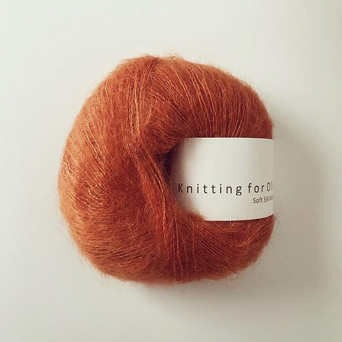 Burnt Orange / Brændt Orange- Soft Silk Mohair