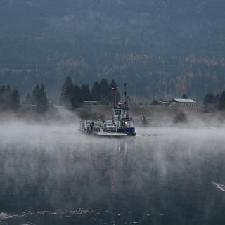 Ominous looking ferry crossing