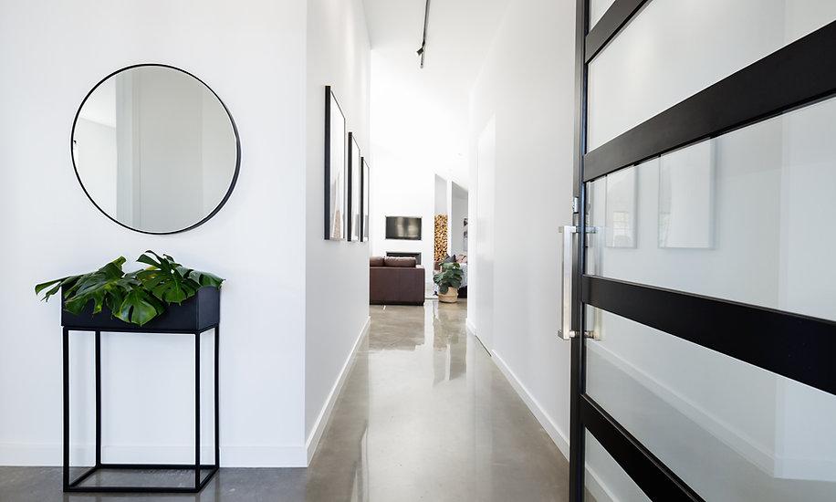 Bright hallway in a modern home