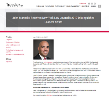 10.25.2019 Tressler Announc of NYSBA Awa