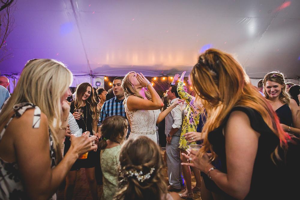 wedding reception dancing