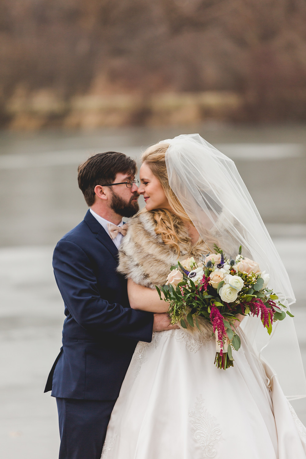 Composed and Exposed Photography, winter wedding, bride and groom, professional wedding photographer, wedding photographer located in South Elgin,