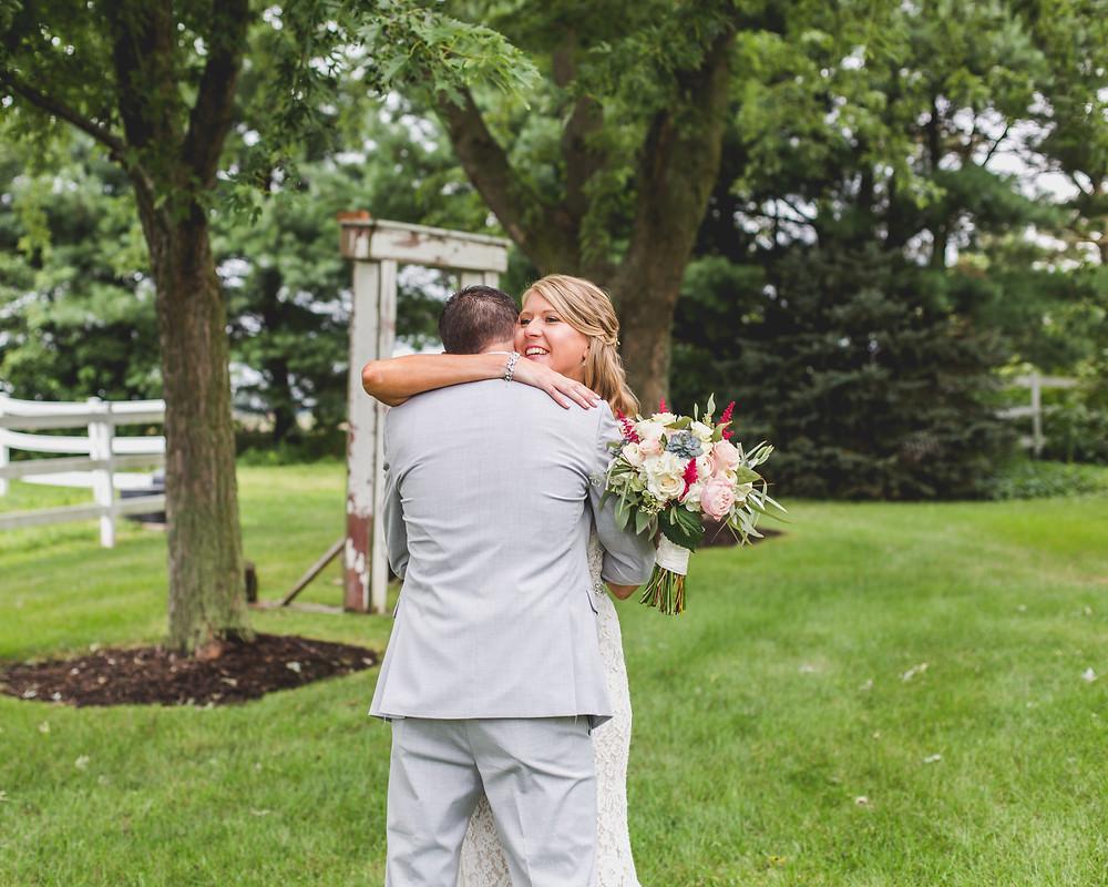 First Look - Northfork Farms Wedding - Oswego IL