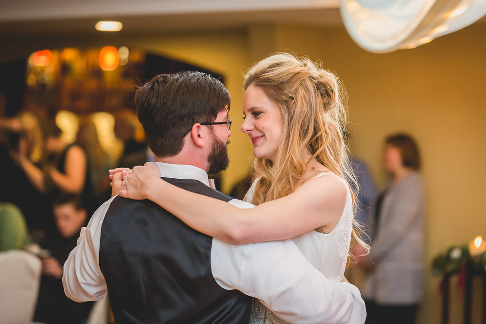 Emotional wedding photography, candid photography, Composed and Exposed Photography, Bride and Groom first dance,