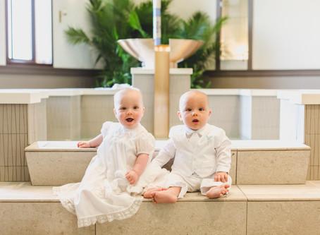 Twin Baptism- St. Gall Church- Elburn IL