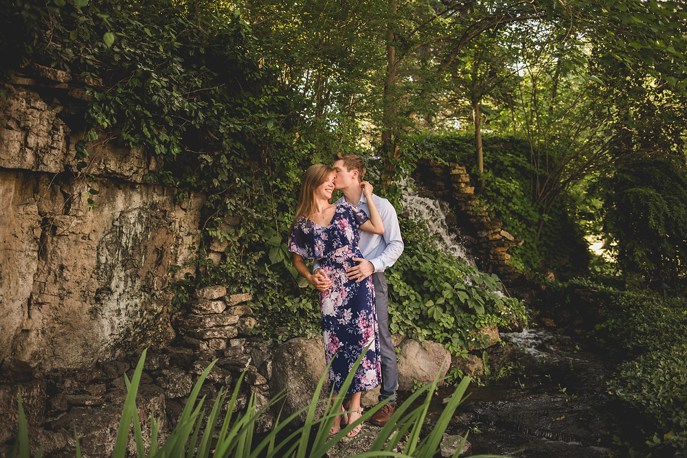 Fun and adventurous engagement session, waterfall session, Illinois wedding photographer, Composed and Exposed Photography, adventure wedding photogrpahy