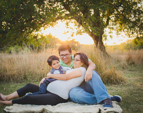Sunset maternity session taken at Leroy Oaks in St. Charles IL. Composed and Exposed Photography