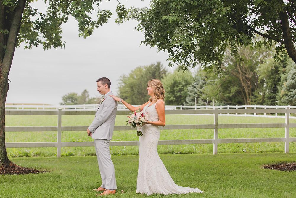 First Look Northfork Farms Wedding - Oswego IL