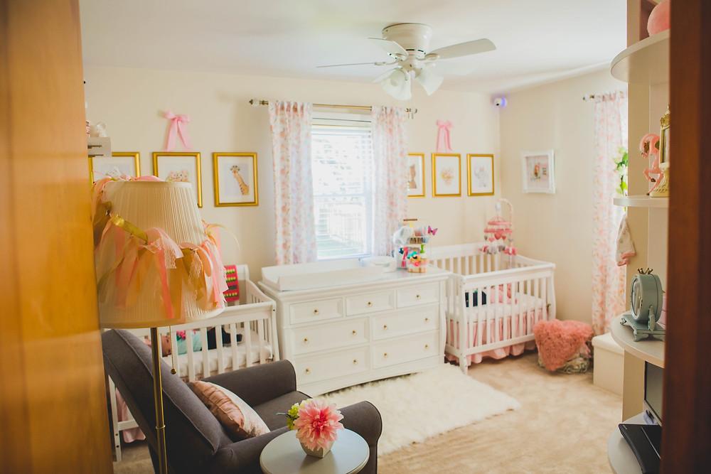 Adorable nursery, nursery, lifestyle session, lifestyle photographer, cribs,