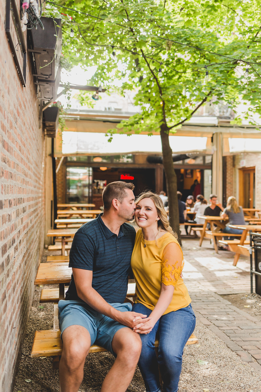 Sheffield's Beer & Wine Garden, Composed and Exposed Photography, engagement session, Northwestern Illinois Photographer