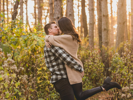Fall Engagement Session-Veteran Acres Crystal Lake, IL