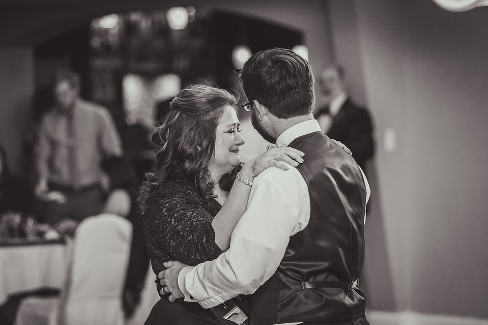 emotional wedding photography, mother son first dance, candid photography, Composed and Exposed Photography,