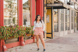 Downtown St. Charles senior session. This session had a downtown urban vibe. Composed and Exposed Photogrpahy #St.CharlesPhotographer #UrbanSeniorSession