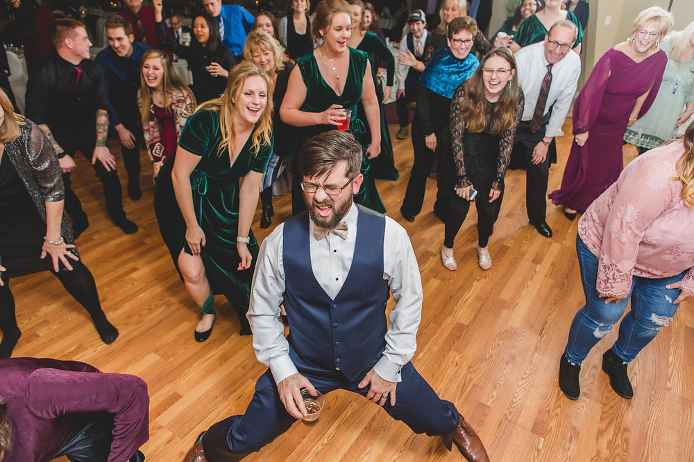 Fun reception dancing, wedding photography, Composed and Exposed Photography, wedding reception, South Elgin wedding photographer,