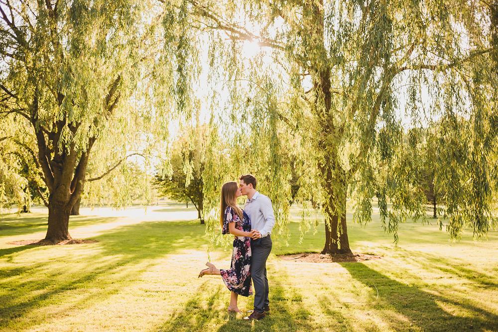 Summer engagement session, South Elgin photographer, Illinois photographer