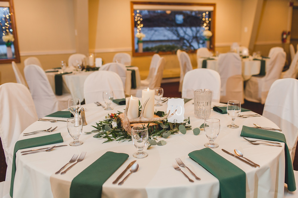 Riverview Banquets in Batavia IL, Wedding decor, Winter themed wedding, Wedding photographer in South Elgin, Illinois wedding photographer,