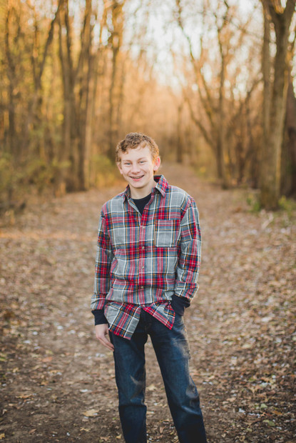 Fall Senior Session at Leroy Oaks in St. Charles IL.