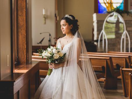 Summer Micro Wedding -Katharine Drexel Catholic Church, Sugar Grove IL