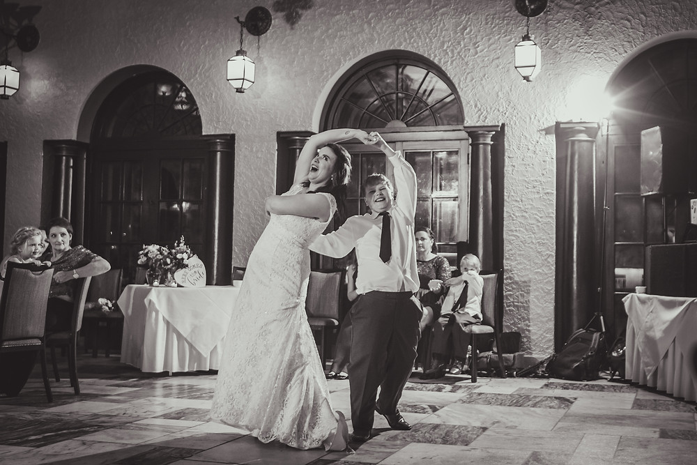 Fun wedding reception at Hotel Baker