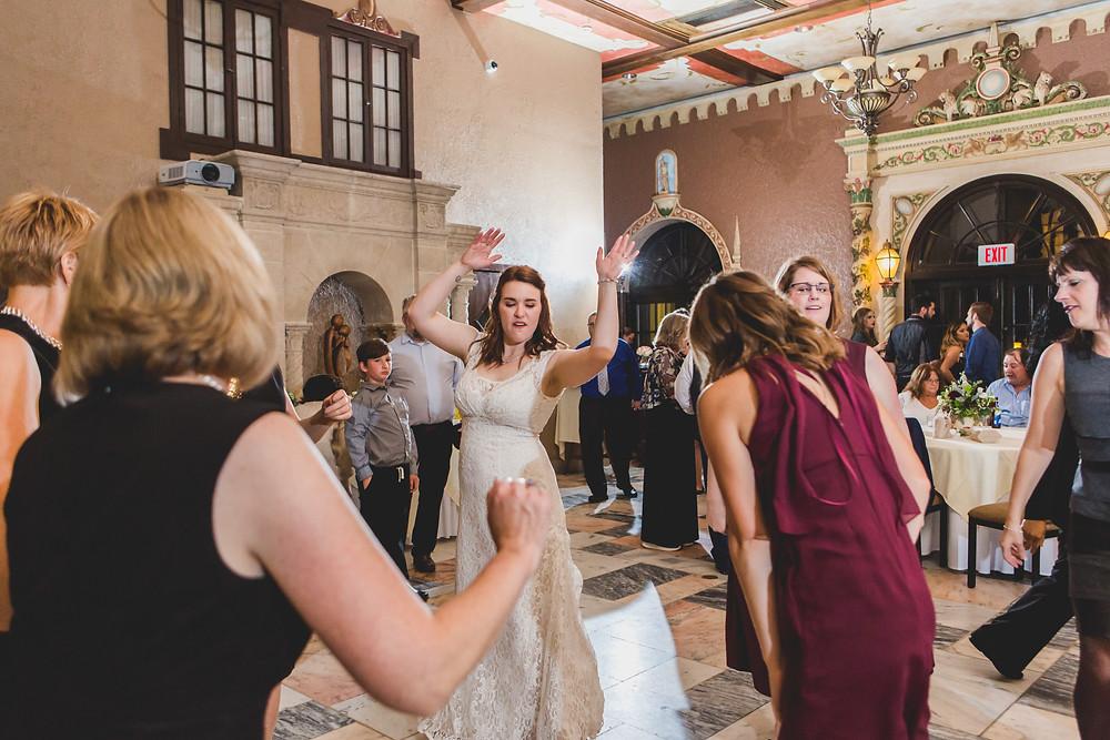 Dancing at Hotel Baker Wedding