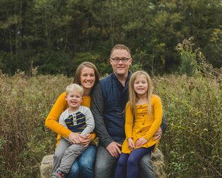 Fall family portrait taken at Leroy Oaks in St. Charles IL. Professional Photographer. #Family Photographer. Composed and Exposed Photography
