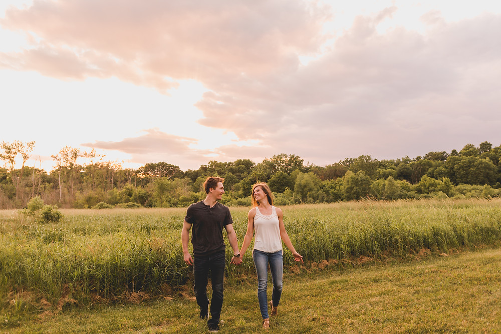 Sunset engagement session, Composed and Exposed Photography, Fun and adventurous engagement session