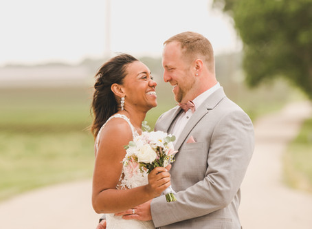 Summer Micro Wedding at Chapel in the Pines, Sycamore IL -Shannon and Trevor