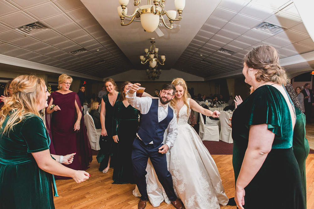 wedding reception dancing, fun wedding photos, Composed and Exposed Photography, Batavia IL wedding,