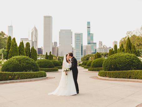 Chicago Skyline Wedding-Shrine of Our Lady of Pompeii-Chicago IL