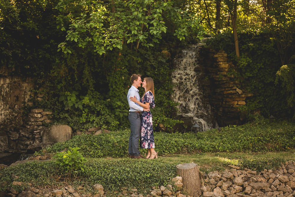 Romantic engagement session, waterfall, Kane County photographer, Composed and Exposed Photography, Illinois wedding photographer