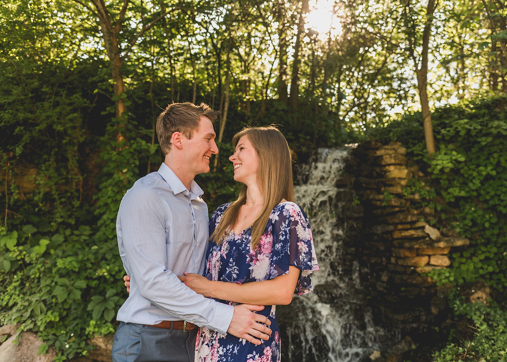 waterfall engagement session, fun and adventurous engagement session, Composed and Exposed Photography, Kane County photographer