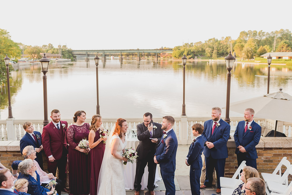 Wedding ceremony on the fox river