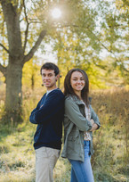 Brother and Sister Senior session. Composed and Exposed Photography Taken at Leroy Oaks in St. Charles IL.