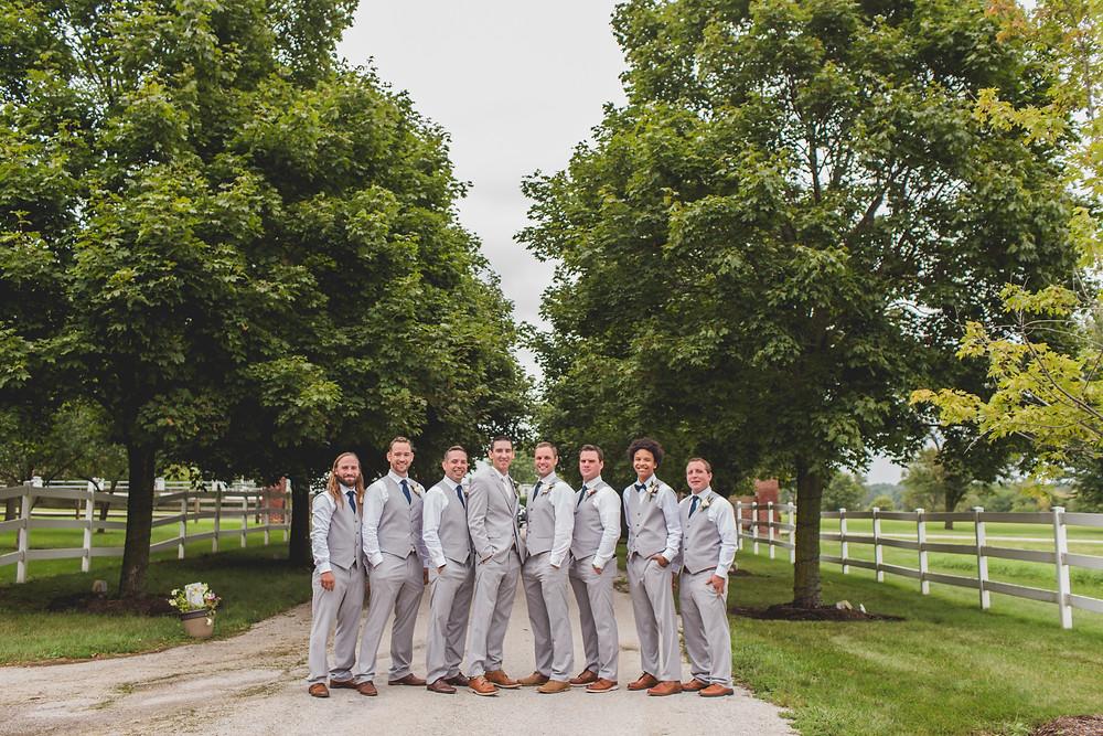 Northfork Farms Wedding - Oswego IL Groomsmen