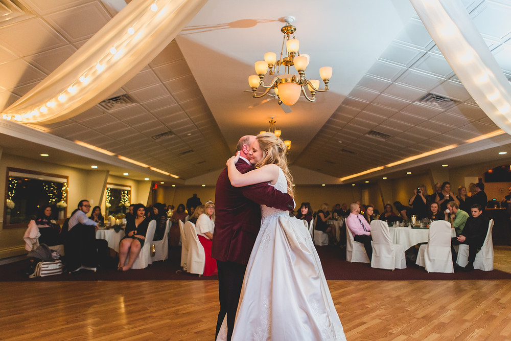Father daughter first dance, Riverview Banquets in Batavia IL, Composed and Exposed Photography, South Elgin IL wedding photographer,