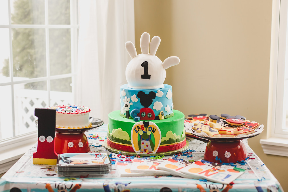 Micky Mouse themed birthday cake