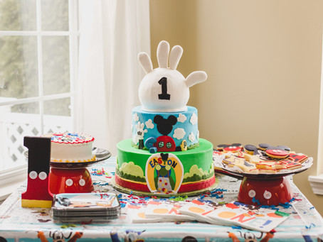 Micky Mouse Themed 1st Birthday and Cake Smash