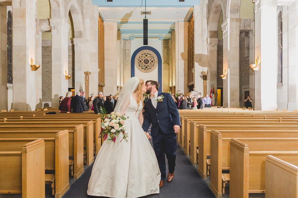 MooseHeart House of God Batavia IL, Wedding ceremony, recessional, church ceremony, Composed and Exposed Photography,