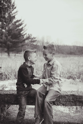 Brother tickle fight - Candid photography