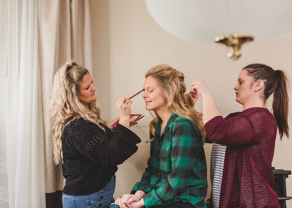 SLT Wedding Hair and Makeup Artistry, Wedding hair and makeup, Illinois wedding photographer, Composed and Exposed Photography