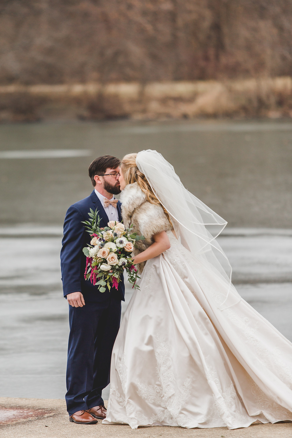 Winter wedding, First look, Chicagoland wedding photographer,