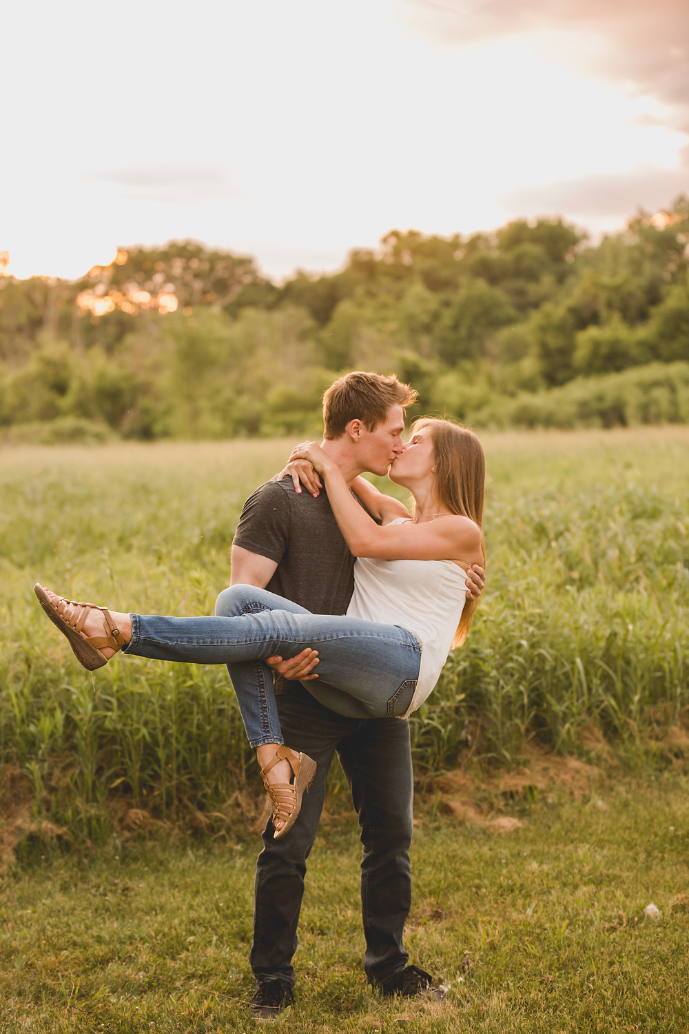 Composed and Exposed Photography, Sunset engagement session, fun engagement poses
