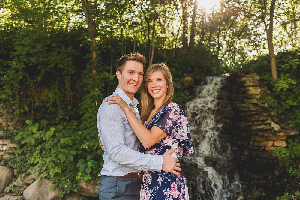 waterfall summer engagement session, Composed and Exposed Photography