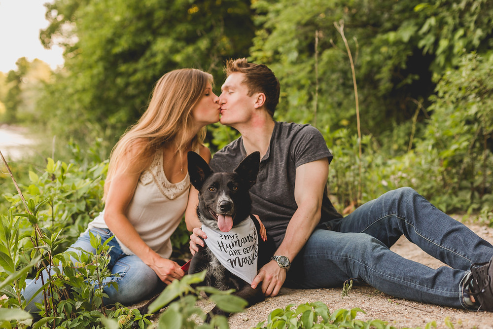 Engagement session with dog, Summer engagement session, Composed and Exposed Photography