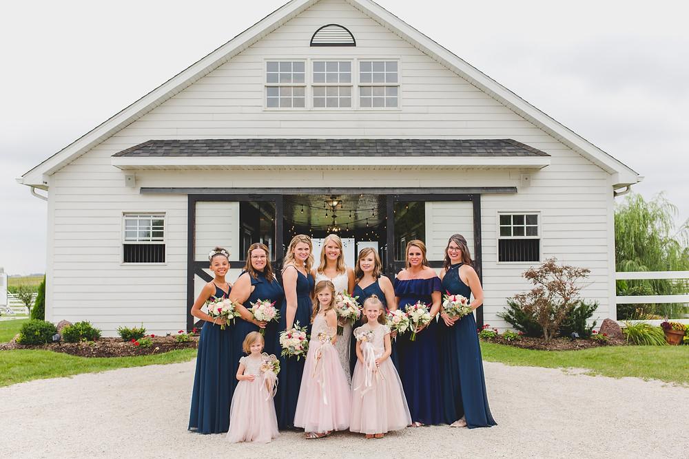 Northfork Farms Wedding - Oswego IL Wedding Party