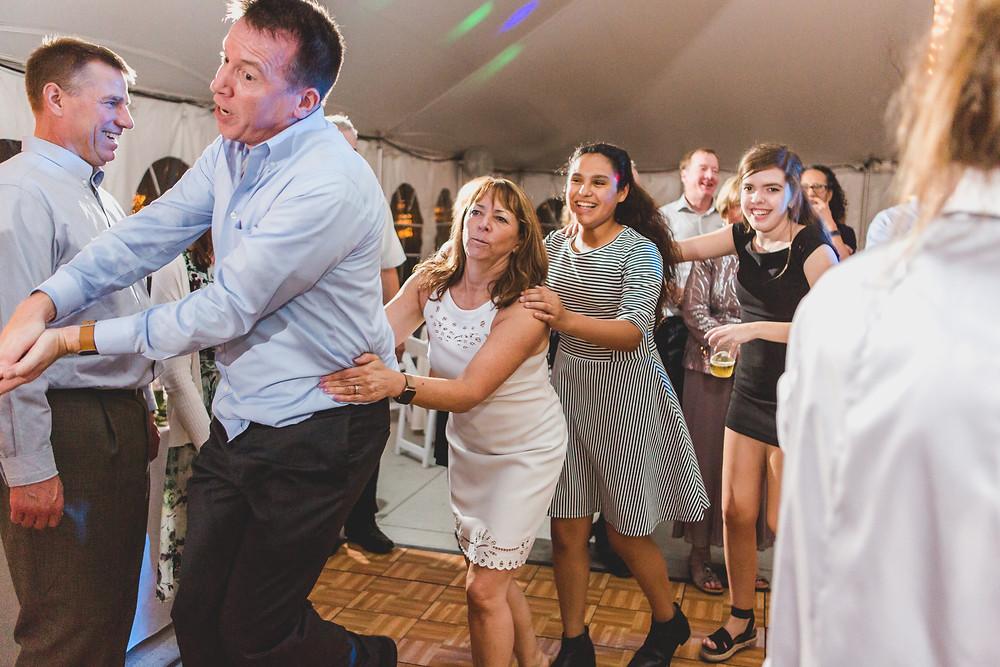 wedding reception dancing South Elgin Wedding Photographer