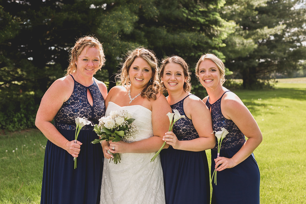 Beautiful bridesmaids, summer wedding, micro wedding